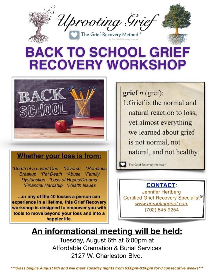 Back to School Workshop Flyer - ACBS